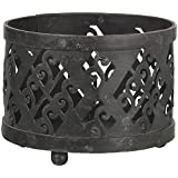 Noble Art & Craft House Iron Cutwork Candle Holder (16 Cm X 16 Cm X 12 Cm, Black)