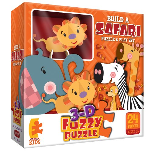 Build A Safari Fuzzy  Jigsaw Puzzle