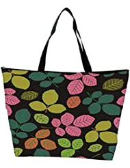 Snoogg Seamless Pattern With Leaf Waterproof Bag Made Of High Strength Nylon - B01I1KMBES