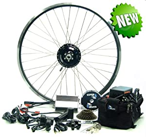 "Electric Bike Conversion Kit FRONT 26"" Geared Motor & SLA Battery"
