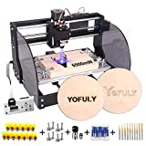 2-in-1 Upgrade 3018 Pro-M CNC Router Kit, 5500 mW CNC Engraving Machine GRBL Control 3 Axis PCB Milling Machine, Wood Router Engraver with Offline Controller (Tamaño: 5.5W)