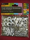 Wiggly Wobbly Sticky Eyes, Childrens Craft, Self-Adhesive, 4 Different sizes!!