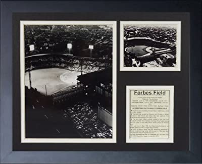 """Legends Never Die """"Pittsburgh Pirates Forbes Field"""" Framed Photo Collage, 11 x 14-Inch"""