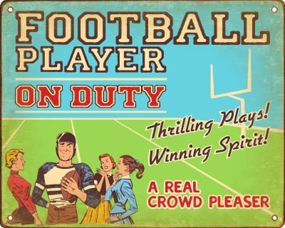 Football Sign (White Player)