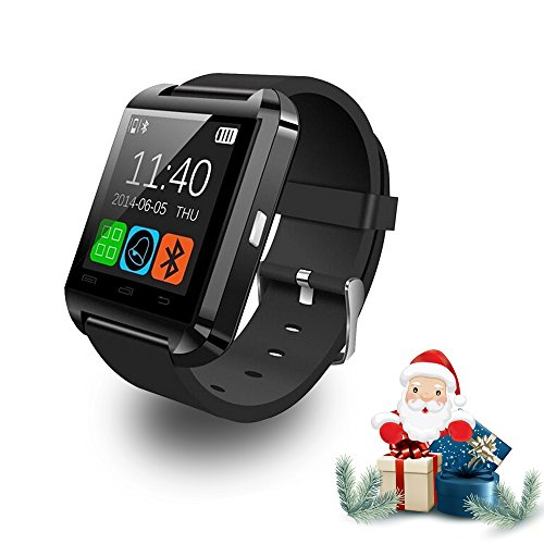 U8 Bluetooth Smart Wrist Watch Phone Mate with Iphone Android Samsung HTC LG (Black)