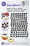 Wilton Black and White Alphabet Sugar Sheet