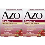 Azo: Urinary Tract Health Cranberry, 50 tabs (2 pack) (Color: 787651420677, Tamaño: 50 tabs)