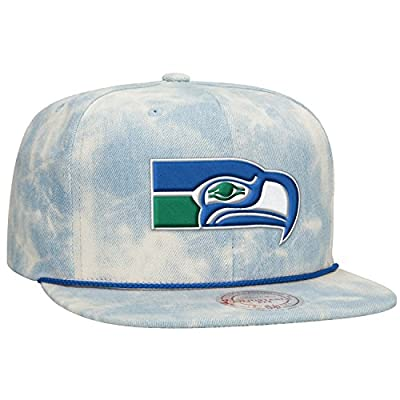 Seattle Seahawks NFL Lite Acid Wash Denim Snapback Cap by Mitchell & Ness