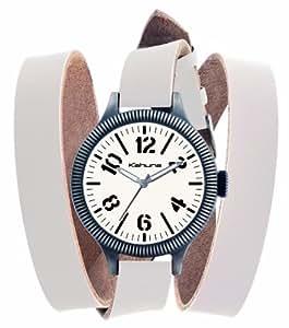 Kahuna Unisex Watch KUS-0051G with White Wrap Around Leather Strap