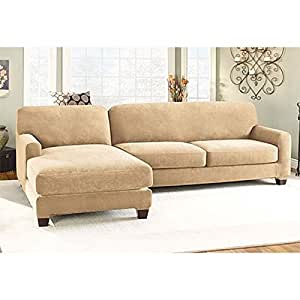 stretch pique sectional with side chaise