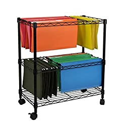 Oceanstar Portable 1-Tier Metal Rolling File Cart, Black by Oceanstar Design Group Inc