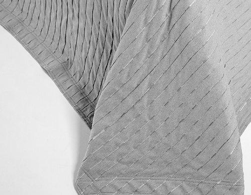 Burrito Blanco - Colcha jacquard sin acolchar 115 para cama 135x190/200 cm, color gris