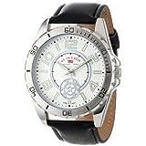Reloj Analogo U.S. Polo Assn. US5159 con Pulsera de Cuero sintético y Dial en Tono Plata para Caballero