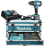 Makita Akku-Schlagbohrschrauber 18 V / 1,5 Ah im Alukoffer inklusive 96-teilig Zubeh�rset, DHP453RYX2
