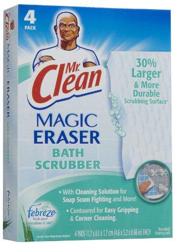 Mr. Clean Magic Eraser Foaming Bath Scrubber - 4 pk (Mr Clean Magic Eraser Scrubber compare prices)