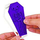 Comixpro Halloween Coffin Cookie Cutter & 6 Design Stamps Set Over The Hill Gift
