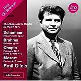Emil Guilels: The Abbotsholme Recital 22 March 1979