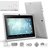 ProntoTec Axius Series Q9S 7 Inch Quad Core Android 4.4 KitKat Tablet PC, 1024 x 600 Pixels Cortex A8 Processor, 8GB ROM, Dual Camera, G-Sensor, Google Play Pre-loaded -White