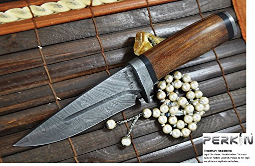 Big Sale- Custom Handmade Damascus Hunting Knife - Beautiful Bowie Knife