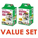 Fujifilm Instax Mini Instant Film, 2 x 10 Shoots x 2Pack (Total 40 Shoots) Value Set