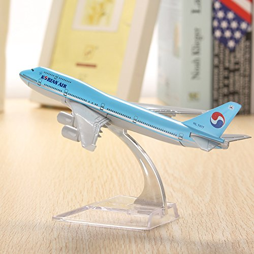 new-wh-b747-korean-air-aircraft-model-16cm-airline-airplane-aeroplan-diecast-model-collection-decor-