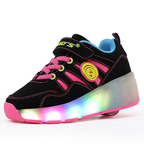 Meurry-Nios-Unisex-LED-Luz-Parpadea-Ruedas-Zapatillas-Auto-prrafo-Roller-Zapatos-Patines-Deportes-Zapatos-Correr-Para-Nios-Navidad-Halloween-Regalo