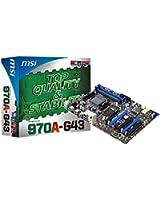 MSI 7693-030R AMD 970 Socket AM3+ 1 x Ethernet 6 x USB 2.0 2 x USB 3.0