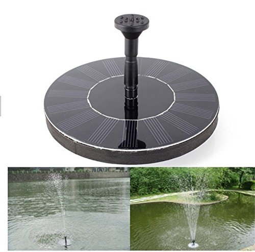 O best solar powered water pump garden fountain pond for Best pond fountains