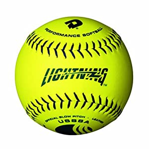 "11"" USSSA™ Optic Yellow™ Leather Women's Classic Lightning™ Softballs from Wilson® - Case of 3 Dozen"