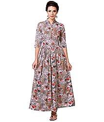 Zastraa Women's Gown (ZSTRDRESS0052_Multi_X-Small)