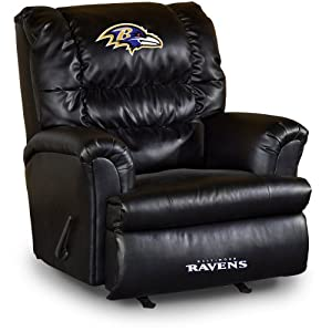 Buy NFL Baltimore Ravens Big Daddy Leather Recliner by Imperial