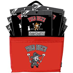 Wild Bill's 3oz Black Peppered Beef Jerky 6-Pack Gift Cooler (filled with 7 beef jerky 3oz packs)
