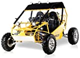 BMS Power Buggy 250 YELLOW Gas 4 Stroke 244cc Recreational Buggy Go Kart thumbnail