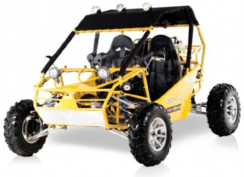 BMS Power Buggy 250 YELLOW Gas 4 Stroke 244cc Recreational Buggy Go Kart