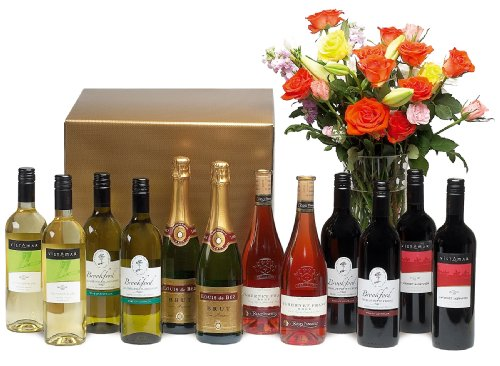 Celebration case in gift box - Twelve bottle case of two bottles each of sparkling wine, white and red wines