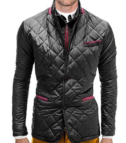 Giacca per il tempo libero uomo BetterStylz Kolding Stepp giacca invernale trapuntato lavoro da equitazione Sport Slim fit misure (M -XL nero Large