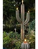 Desert Steel Saguaro Cactus Tiki Torch, 6.5-Feet