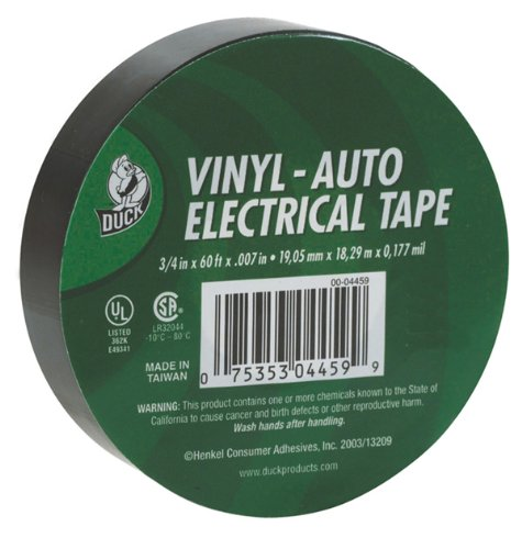 Duck Brand 527921 Auto Electrical Tape, 3/4-Inch By 60 Feet, Single Roll, Black