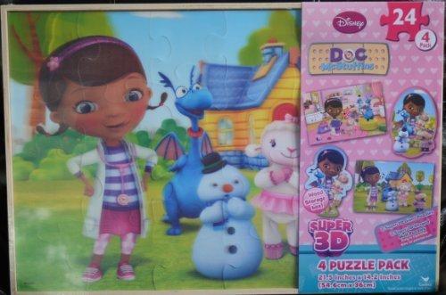 Disney Junior Doc Mcstuffins Super 3d 4 Puzzle Pack