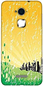Snoogg garden background with retro architecture Solid Snap On - Back Cover all Around protection For Coolpad Note 3 (White, 16GB)