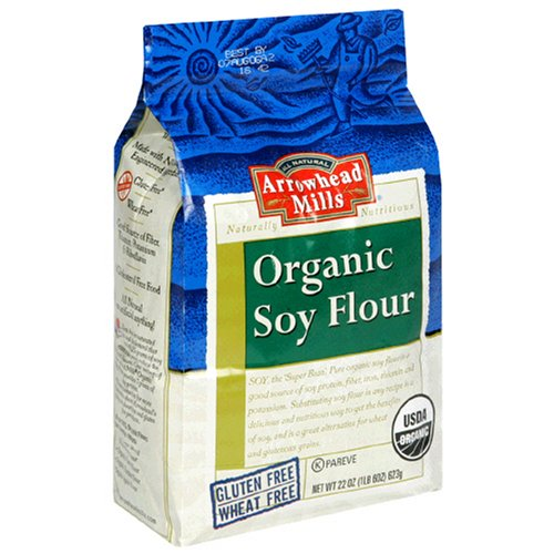 Arrowhead Mills Organic Soy Flour, 22 Ounce Bags (Pack of 6) by Arrowhead Mills