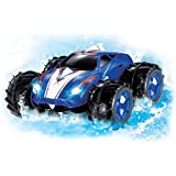 Amphibious Remote Control Car - Drives On Land And Water Up To 200 Ft, 360 Degree Spins, LED Headlights. Blue...