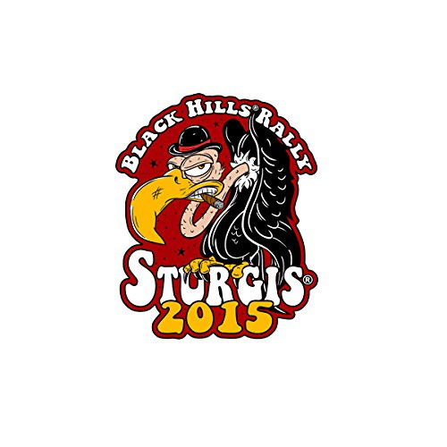 Hot Leathers Official 2015 Sturgis Motorcycle Rally 75th Anniversary Angry Buzzard Patch