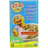 Earth's Best Organic Yummy Tummy Instant Oatmeal, Apple Cinnamon, 10-Count (Pack Of 6)