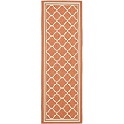 Safavieh Courtyard Collection CY6918-241 Terracotta and Bone Indoor/ Outdoor Runner, 2 feet 3 inches by 8 feet (2\'3\