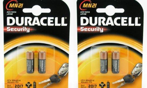 Onogal Lot de 4 Piles Duracell Alcaline Security A23 / K23A LRV08 de 12V 2017 LRV08 GP23 MN21 V23GA LR23A 23A L1028 Batterie 2665c