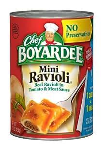 Chef Boyardee Mini Ravioli, 15-Ounce Units (Pack of 24)