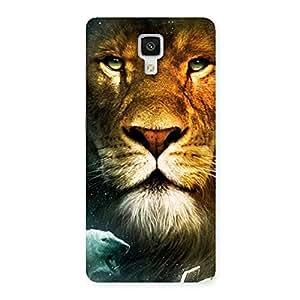 Ajay Enterprises Power Lion Face Back Case Cover for Xiaomi Mi 4