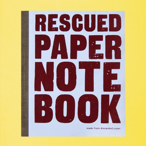 Image of Rescued paper notebook - large - grey