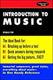 img - for Introduction To Music 1st (first) Edition by Pen, Ronald published by McGraw-Hill (1991) book / textbook / text book